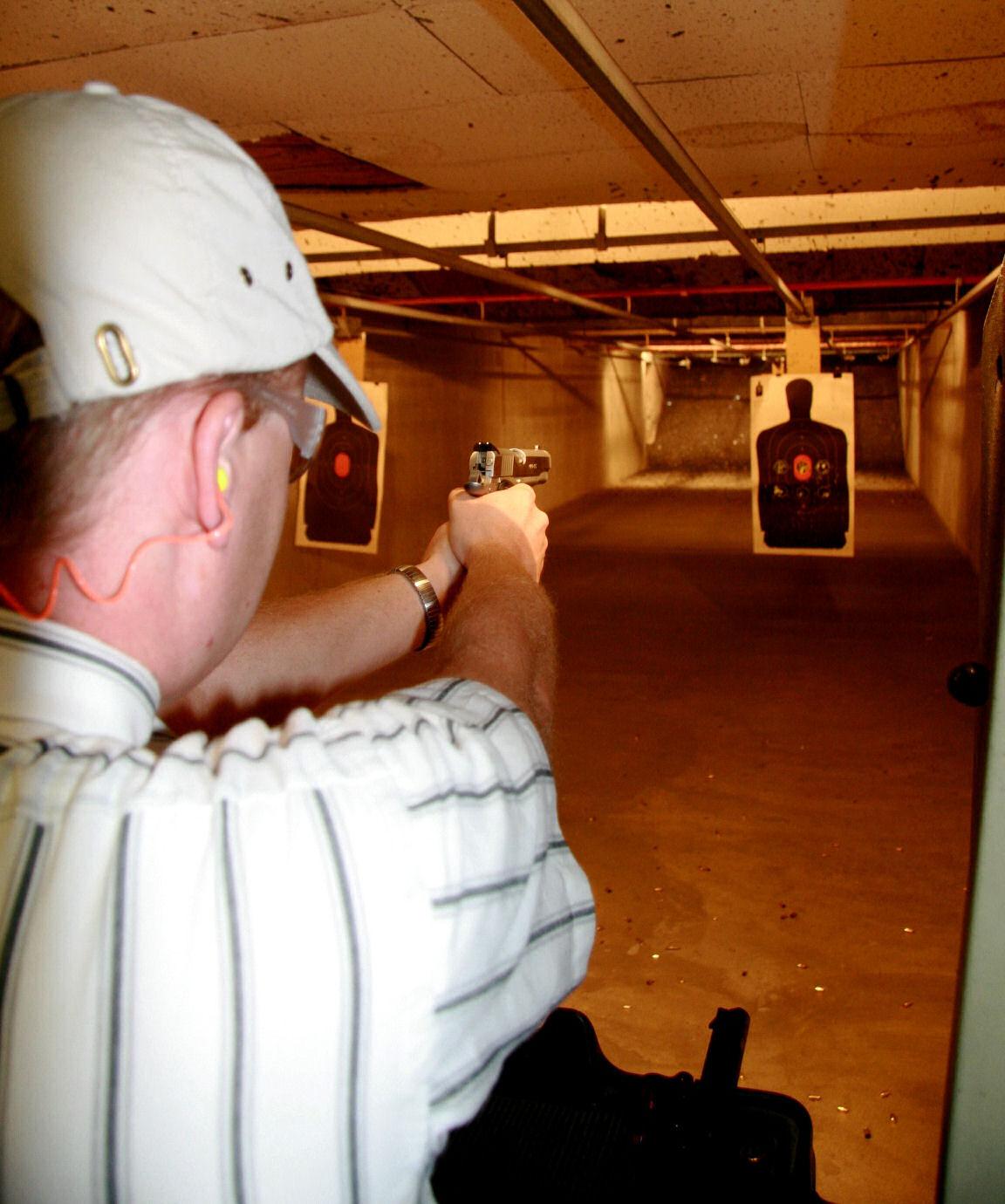 Brian J. firing the .45