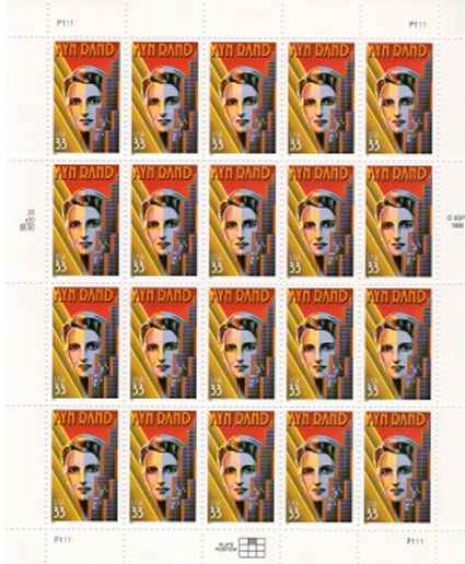 Ayn Rand stamps