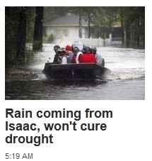 Isaac won't cure the draught