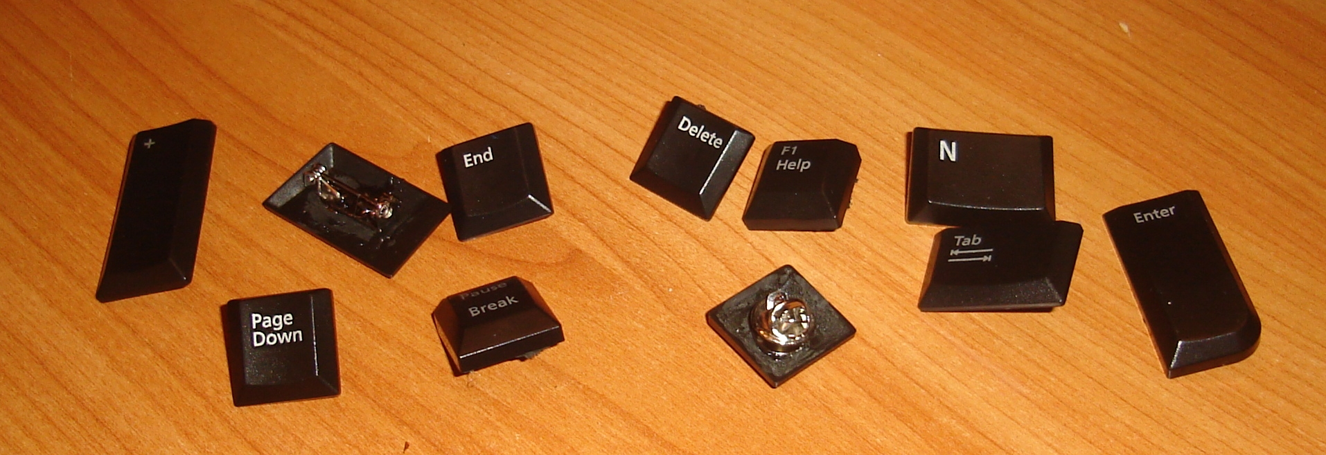 Computer keys made into pins