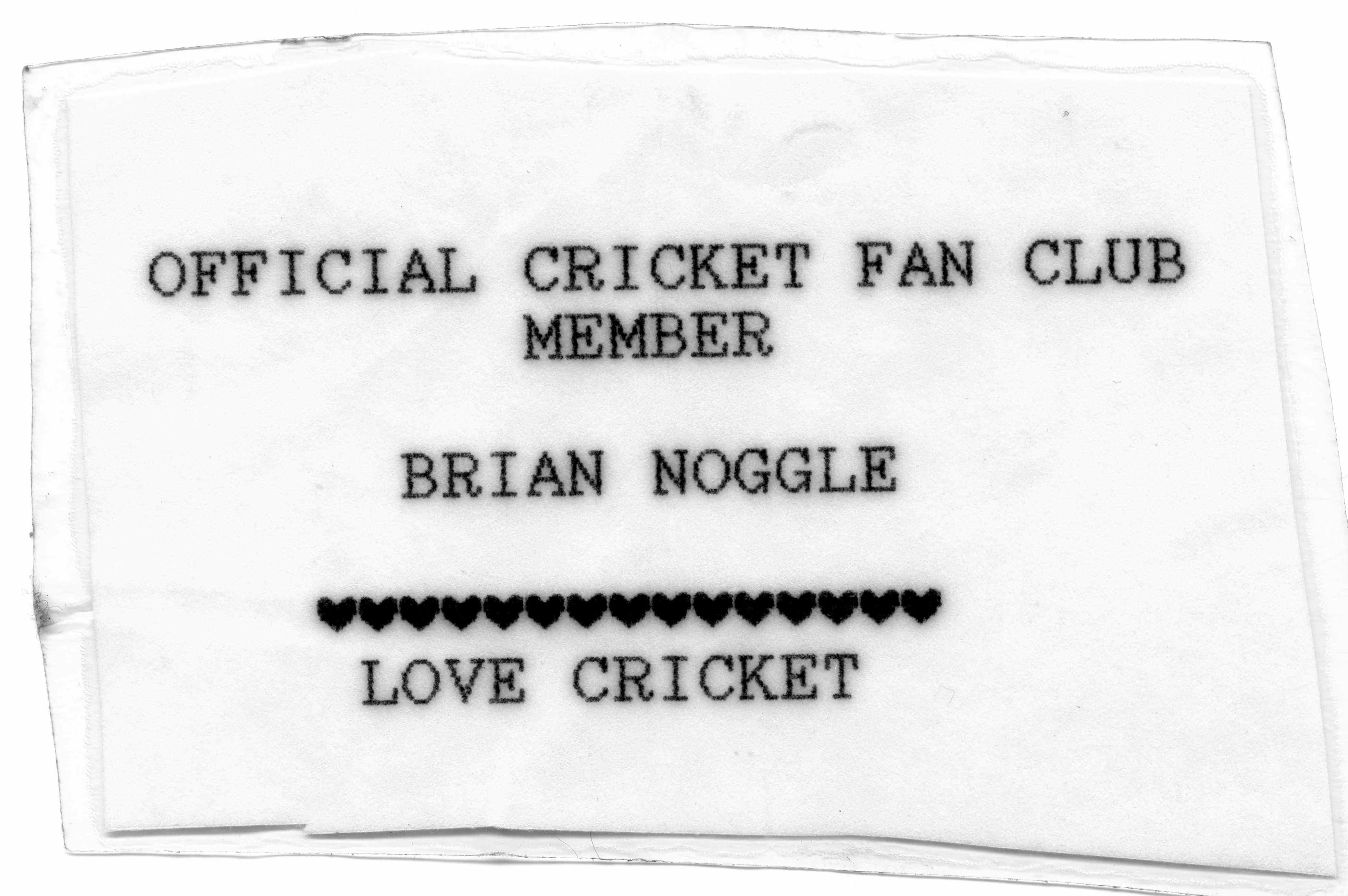 Cricket fan club membership