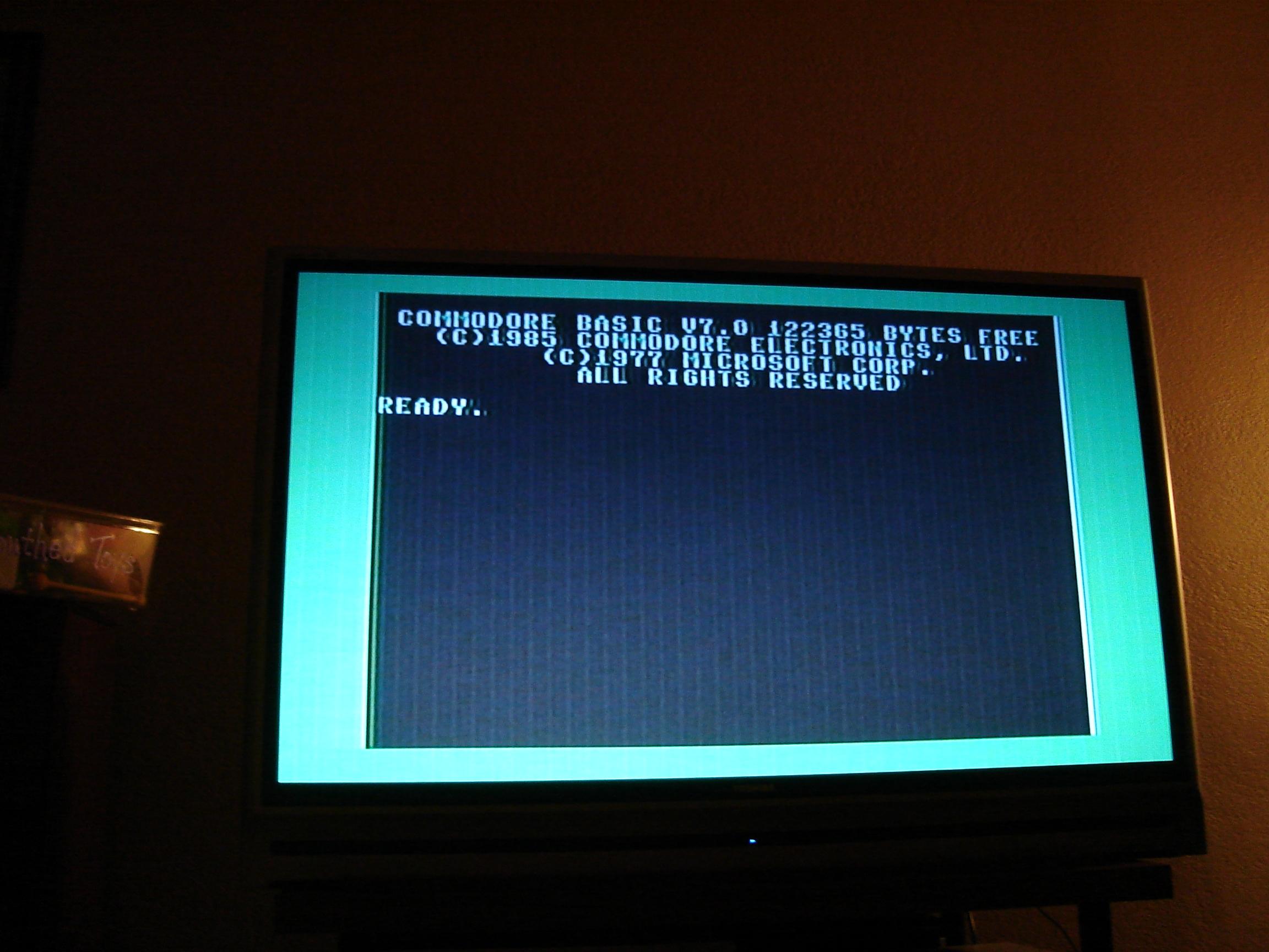 Commodore 128 startup