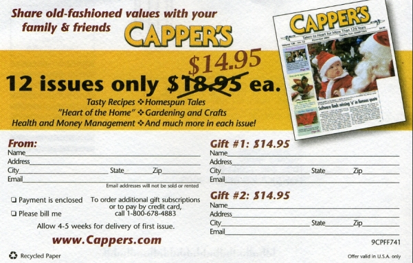 Capper's Subscription Deal