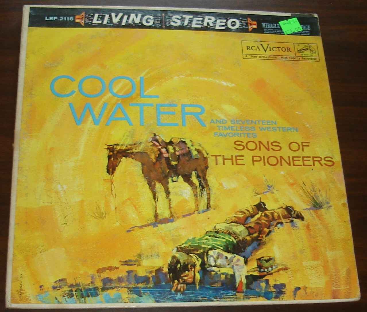 Sons of the Pioneers Cool Water LP