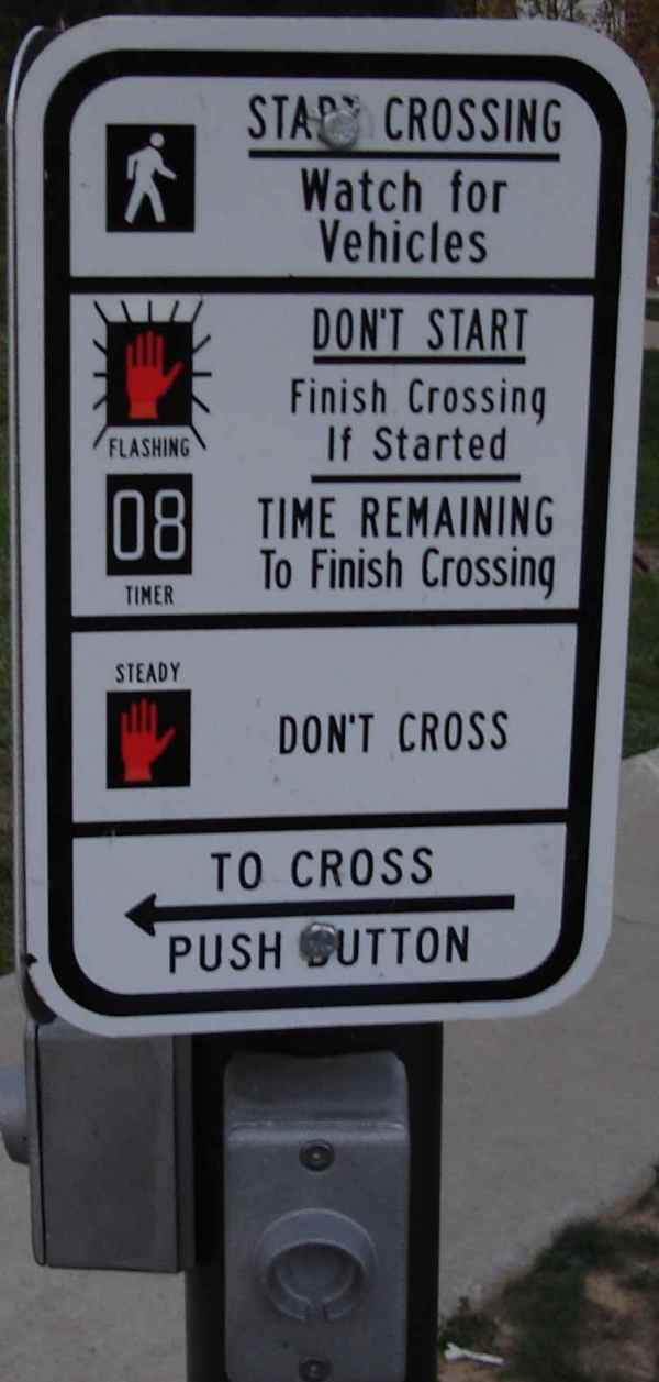 New crosswalk instructions