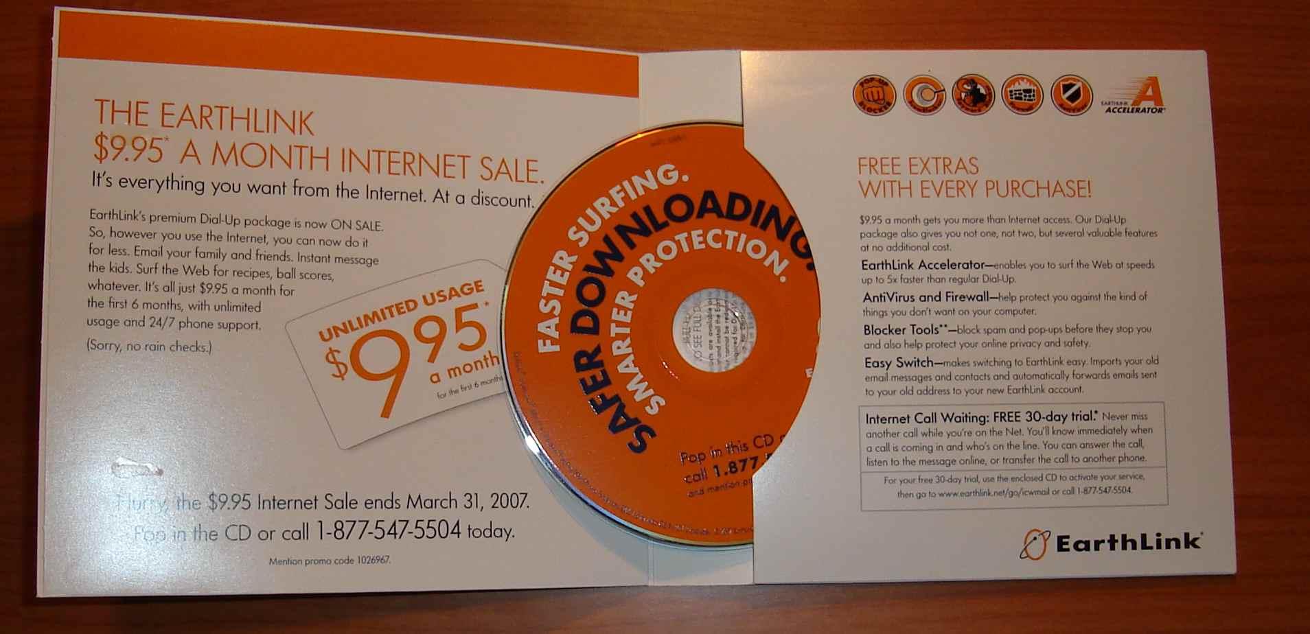 Earthlink still send out CDs