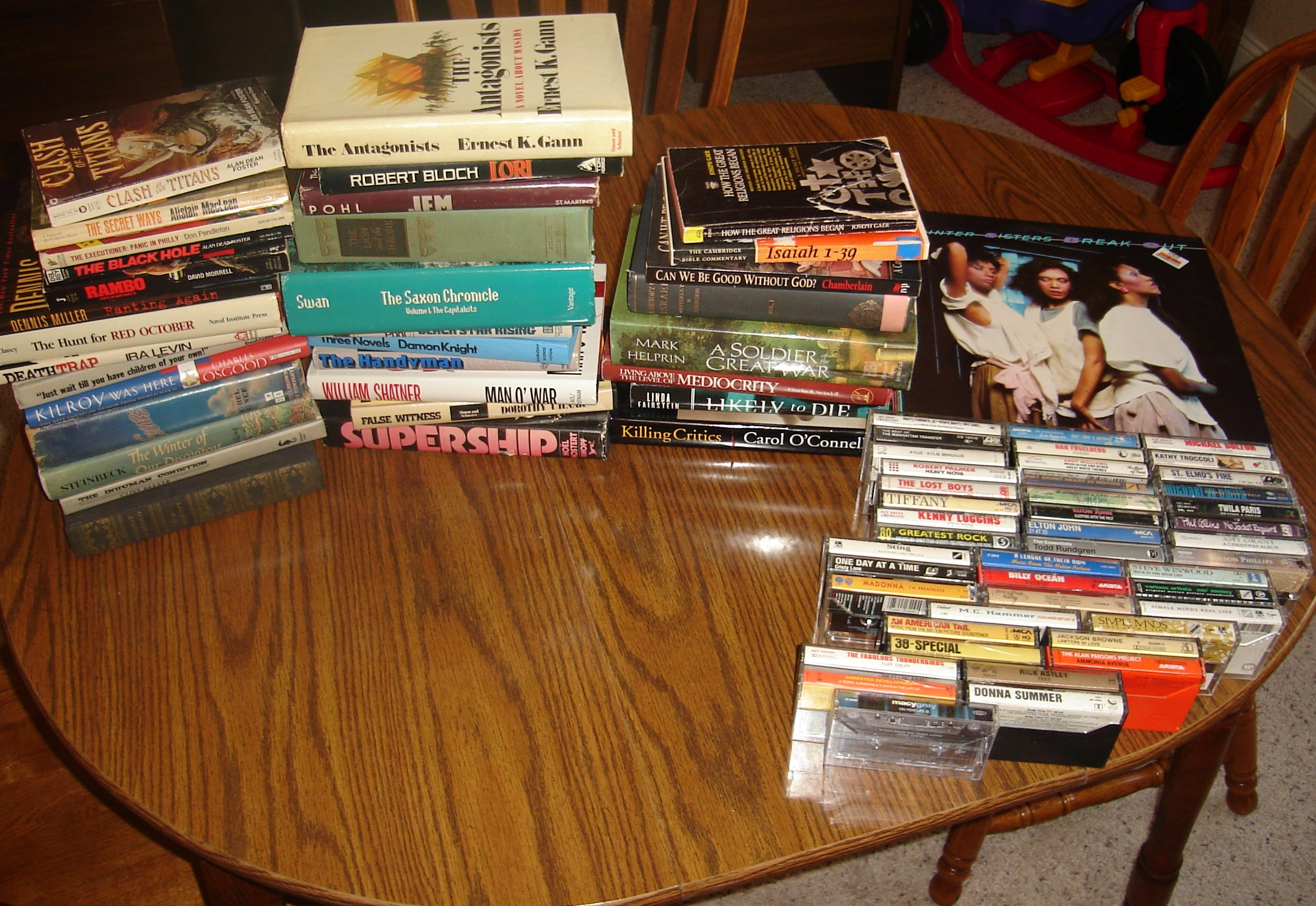 Books we bought at the Carondolet Y