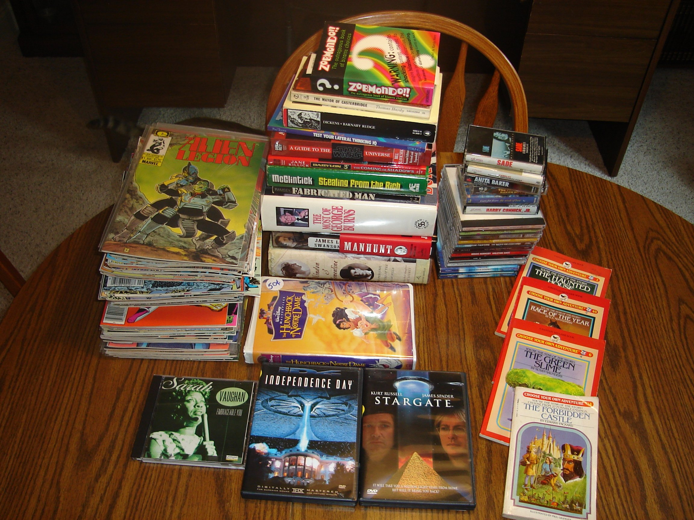 Old Trees Garage Sale books