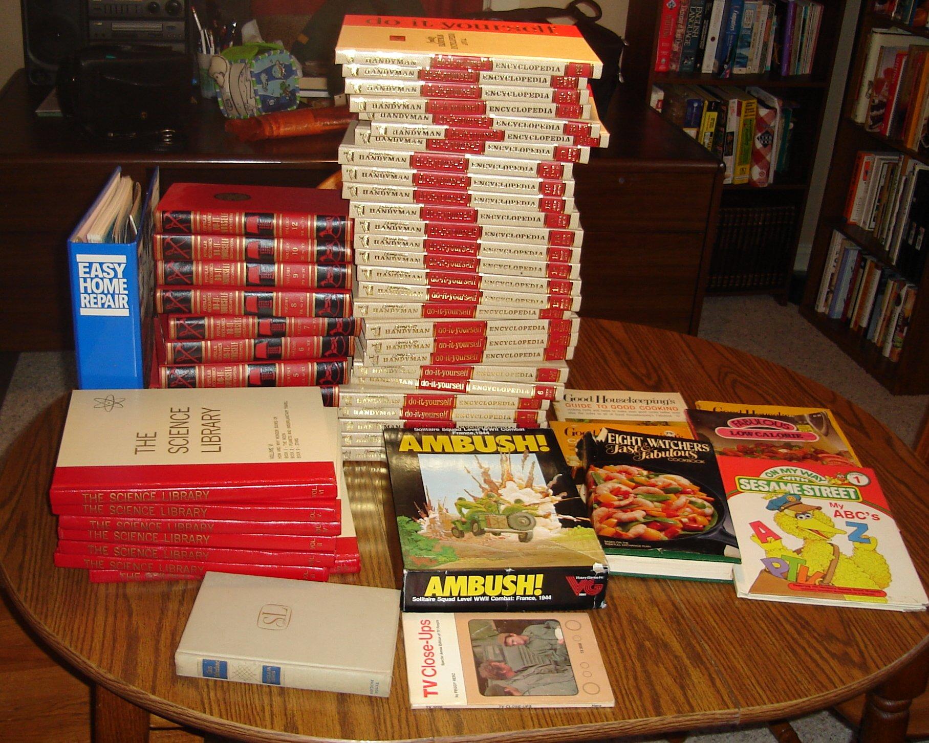 November garage sale book finds