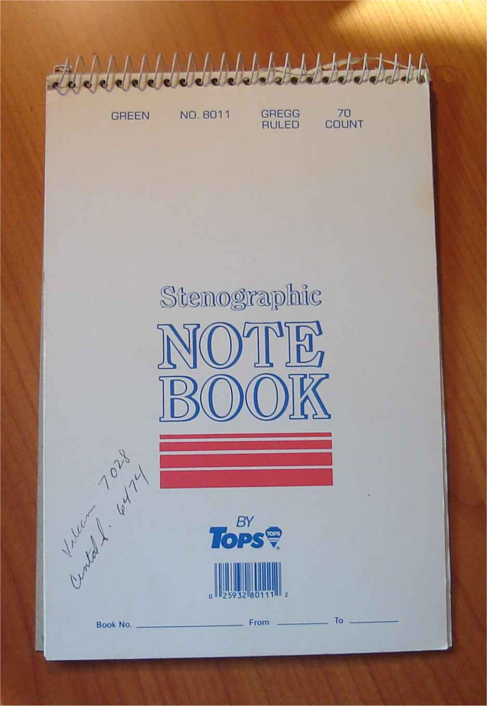 The steno pad