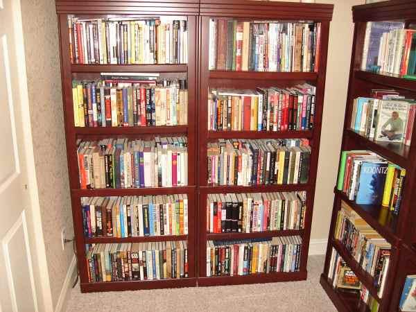 Brian's read hardbacks, shelves 1 and 2