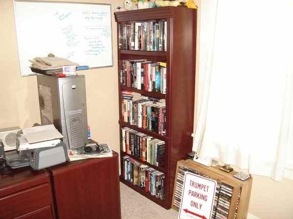 A shelf of Heather's books