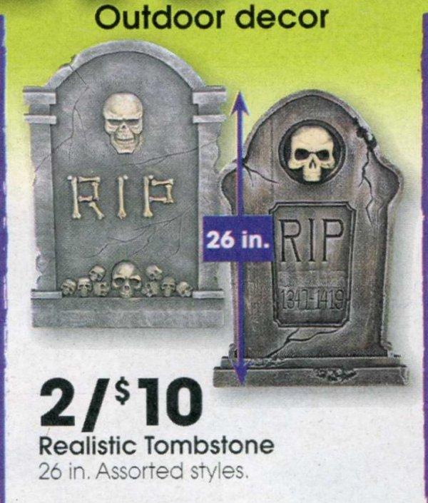 Realistic tombstones?