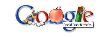 Google's illustration for Roald Dahl's birthday