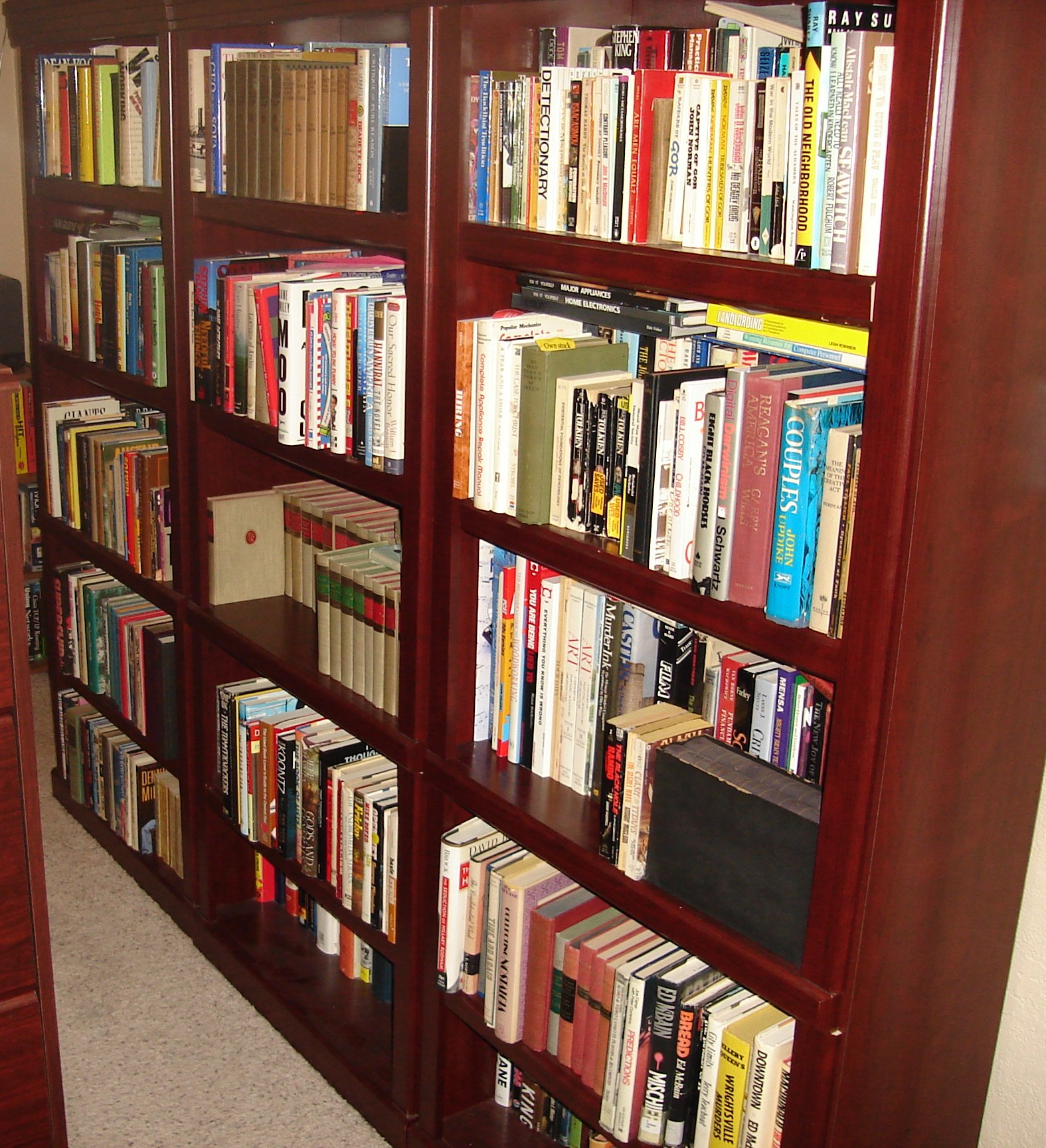 My to-read bookshelves, 2007